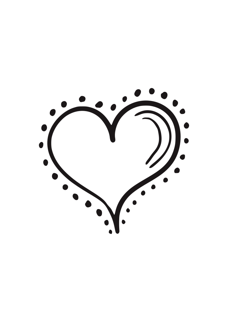 Hand Drawn Heart With Dots Free Svg File Svgheart Com