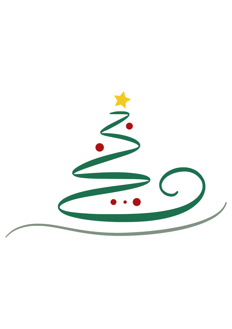 Swirly Christmas Tree Free Svg File Svgheart Com