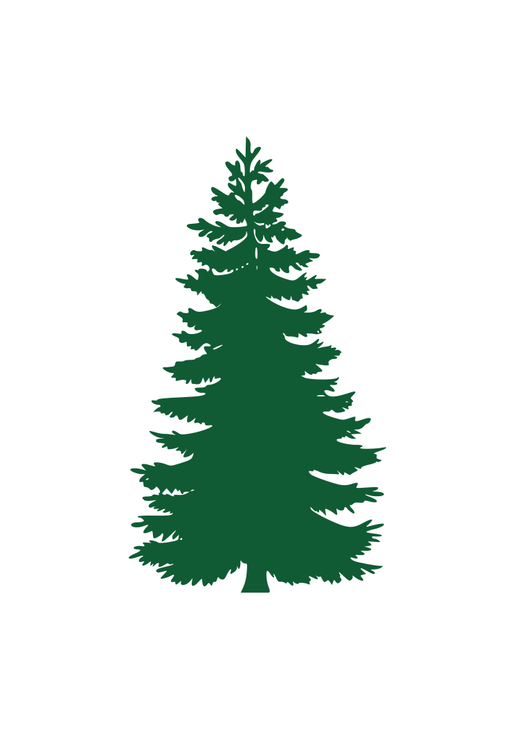 Pine Tree Silhouette Free Svg File Svgheart Com