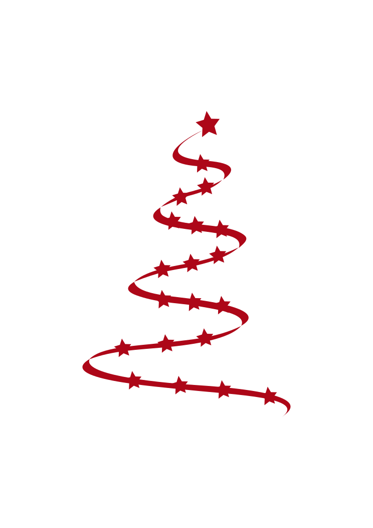 Christmas Tree Outline With Star Shape Free Svg File Svgheart Com